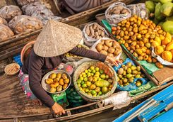 fruit floating market