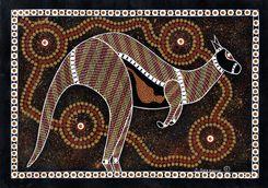 kangaroo aboriginal art