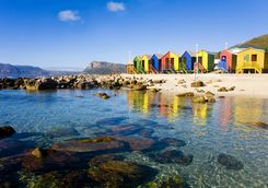 Beach huts in cape town