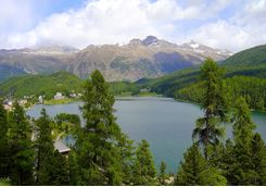 St Moritz lake from above