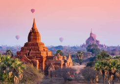Hot Air Balloons, Bagan