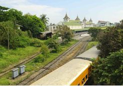 Yangon train station