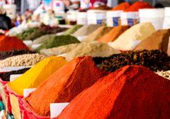a spice market in Tashkent
