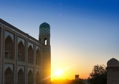 sunset at Khiva