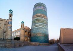 Minaret statue in Khiva