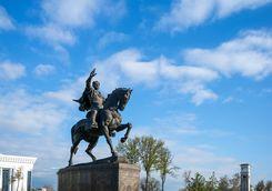 timur statue in tashkent