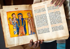 Priest with book in Tigray