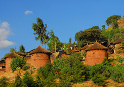 Ethiopian traditional huts