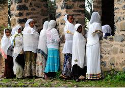 Orthodox faithful, Gondar