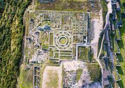 Aerial Sacsayhuaman Ruins
