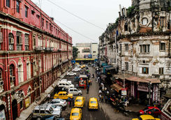 The busy streets of Kolkata