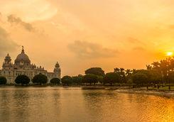 Victoria Memorial at sunset