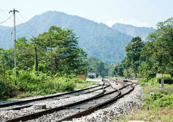 Railway leading out of Kalimpong