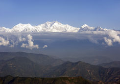 Kalimpong view of the Himalayas