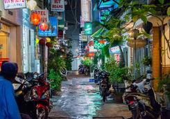 City at night in Ho Chi Minh