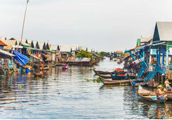 Village on Tonle Sap Lake, Cambodia