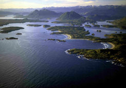 Aerial shot of Wickaninnish