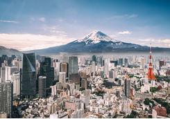 Mt Fuji and Tokyo Skyline
