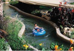 Pool slide at Barr Al  Jissah hotel
