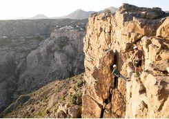 Anantara Al Jabal Akhdar rock climbing