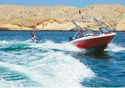 Barr al Jissah wake boarding