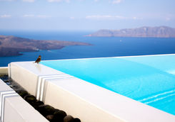 Infinity pool in Santorini