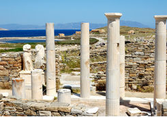 Pillar ruins in Delos