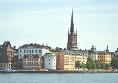 Cityscape view of Stockholm