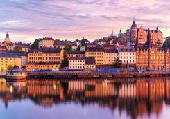 Evening shot of Stockholm
