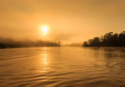 sunrise Kinabatangan river