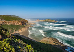 Robberg nature reserve coast