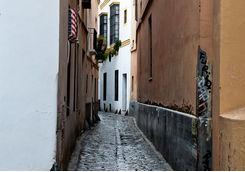 cobbled street cadiz seville