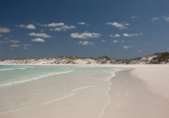 White sands silica beach