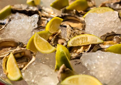Oyster with lemon