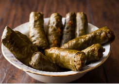 Stuffed vine leaves dish