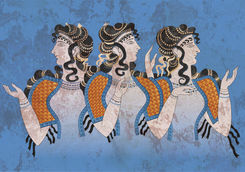Three Minoan Women painting