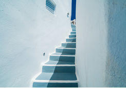 Architectural stair design Santorini