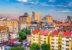 Yangon cityscape