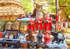 Sculptures for sale in Bagan Market