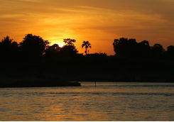 Sun setting over the Chindwin River