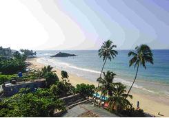 Top view of Mirissa beach