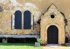 Rustic door in Galle, Sri Lanka
