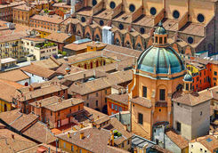 Dome view of Bologna