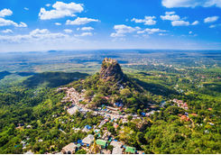 Aerial view of Mount Popa