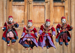 Traditional Myanmar puppets