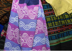 Colourful traditional longyi