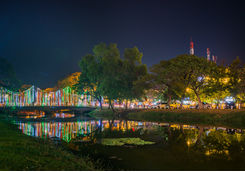 Night view of Siem Reap