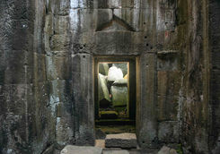 Door inside the Preah Khan temple