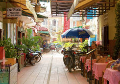 Alley way at siem Reap