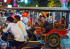 Busy street in Phnom Penh